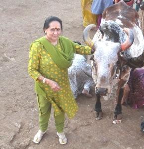 With Lalita at Gaushala