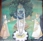ShreeNathji painting at His Gaushala