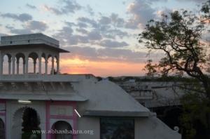Sunset at the Gaushala.