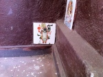 ShreeNathji painted on a stairway, to prevent people from spitting!
