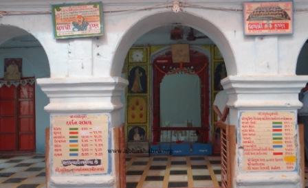 Details of the various manoraths, timings of the mandir