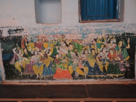 A very old Krishn painting on one of the walls