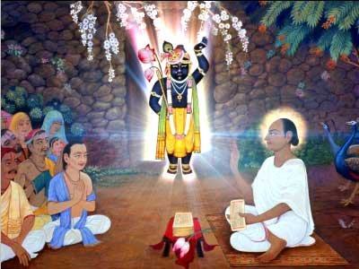 ShreeNathji with Shri Vallabhacharya