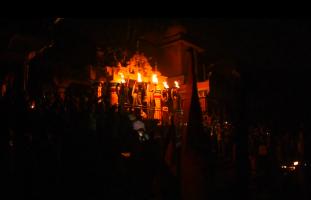 Late evening view of Vishram Ghat
